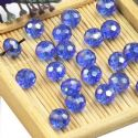 Beads, Selenial Crystal, Crystal, Royal blue AB, Faceted Discs, 8mm x 8mm x 6mm, 10 Beads, [ZZC112]
